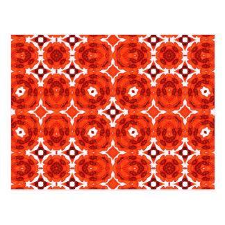 Red and White Pinwheel Whorls Postcard