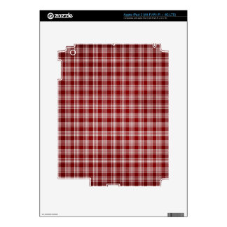 Red and White Plad iPad 3 Decal