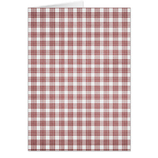 Red and White Plaid Card