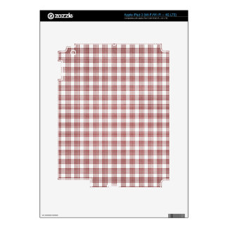 Red and White Plaid iPad 3 Decal