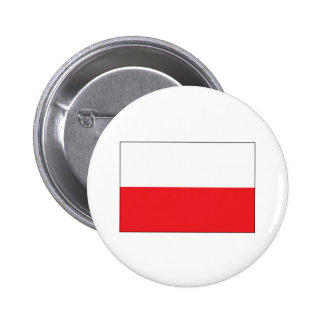 Red and White Polish Flag 2 Inch Round Button