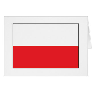 Red and White Polish Flag Greeting Card