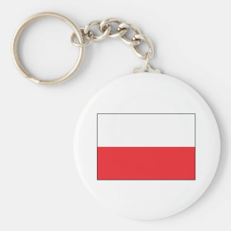 Red and White Polish Flag Keychain