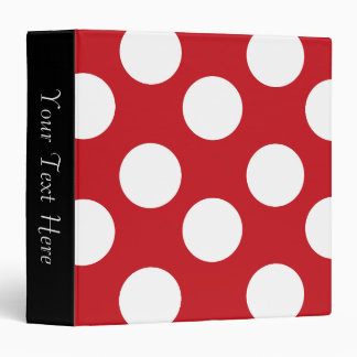 Red and White Polka Dot 3-Ring Binder