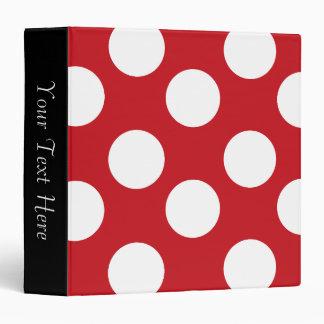 Red and White Polka Dot 3-Ring Binder