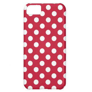 Red and White Polka Dot Cover For iPhone 5C