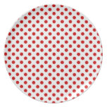 Red and White Polka Dot Celebrations Plate