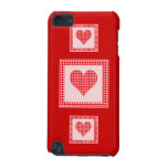 Red and White Polka Dot Heart Pattern