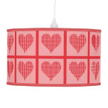 Red and White Polka Dot Heart Pattern Ceiling Lamp