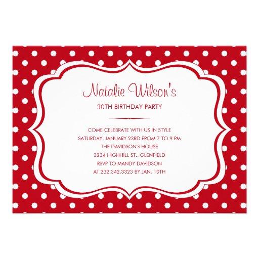 Personalized Red Birthday Invitations Custominvitations4u Com