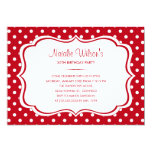 Red and White Polka Dot Invitations