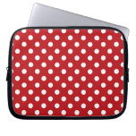 Red and White Polka Dot Laptop Sleeve