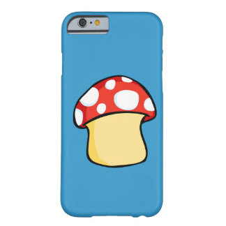 Red and White Polka Dot Mushroom Barely There iPhone 6 Case