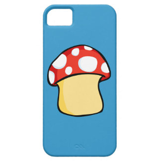 Red and White Polka Dot Mushroom iPhone 5 Case