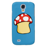 Red and White Polka Dot Mushroom Galaxy S4 Cases