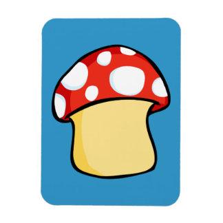 Red and White Polka Dot Mushroom Magnet