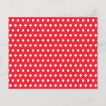 Red and White Polka Dot Pattern. Spotty.