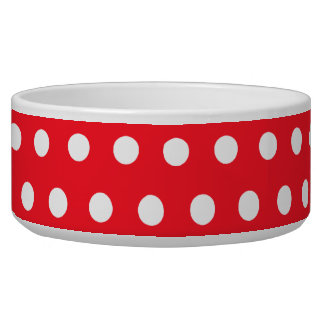 Red and White Polka Dot Pattern. Spotty. Bowl