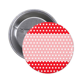 Red and White Polka Dot Pattern Spotty Pin