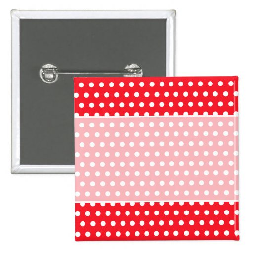 Red and White Polka Dot Pattern. Spotty. Pin