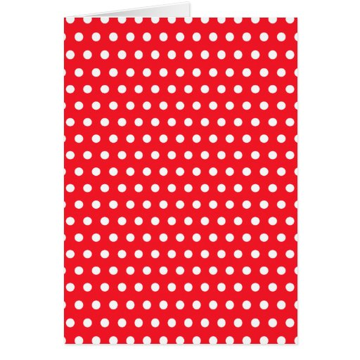 Red and White Polka Dot Pattern. Spotty. Stationery Note Card