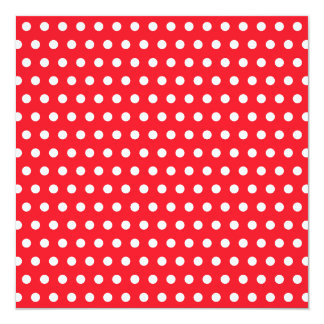 Red and White Polka Dot Pattern. Spotty. Card
