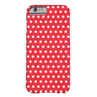 Red and White Polka Dot Pattern Spotty iPhone 6 Case
