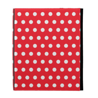 Red and White Polka Dot Pattern. Spotty. iPad Folio Covers