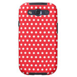 Red and White Polka Dot Pattern. Spotty. Galaxy SIII Covers