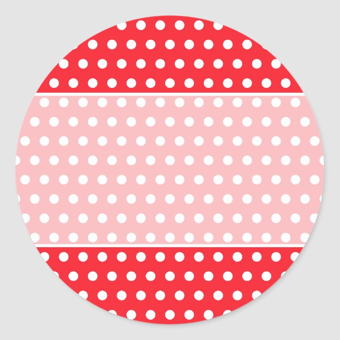 Red and white polka dot pattern spotty classic round for Red and white polka dot pattern