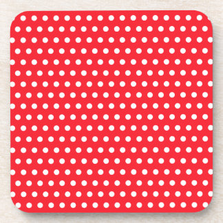 Red and White Polka Dot Pattern. Spotty. Coaster