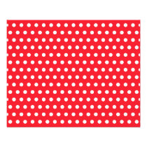 Red and White Polka Dot Pattern. Spotty. Flyer