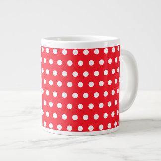 Red and White Polka Dot Pattern. Spotty. Giant Coffee Mug