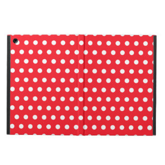 Red and White Polka Dot Pattern. Spotty. iPad Air Cover