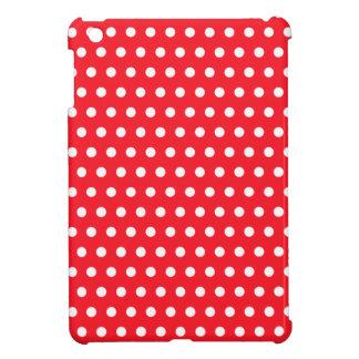 Red and White Polka Dot Pattern. Spotty. iPad Mini Case