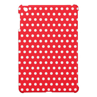 Red and White Polka Dot Pattern. Spotty. iPad Mini Cover