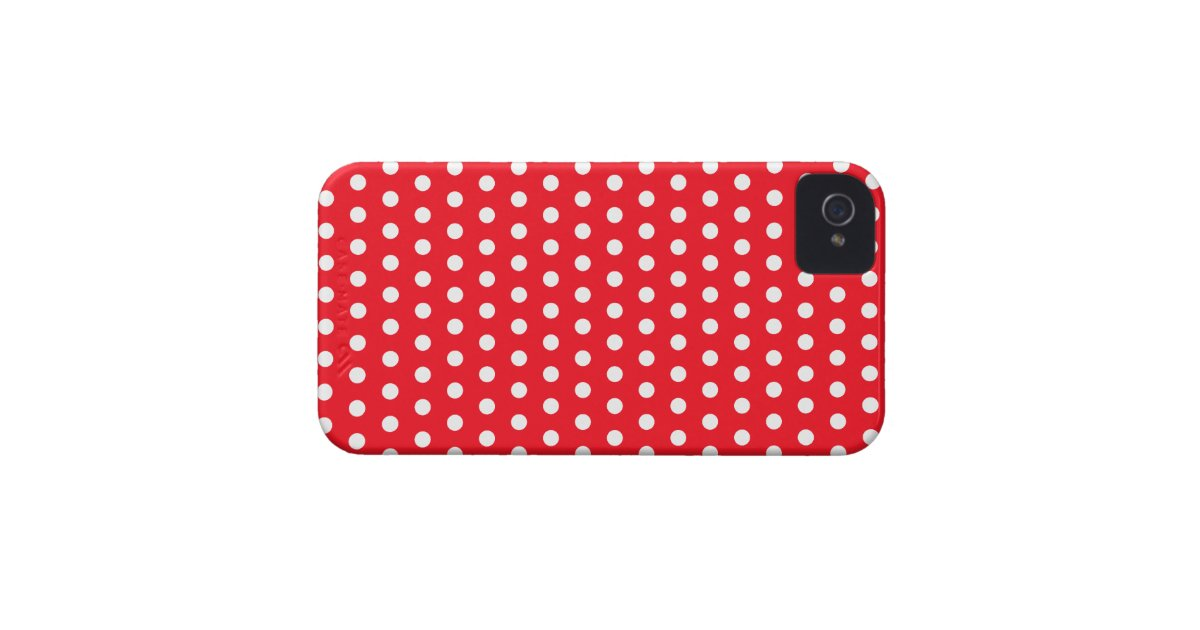 Red and white polka dot pattern spotty iphone 4 case for Red and white polka dot pattern