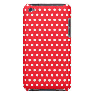 Red and White Polka Dot Pattern. Spotty. iPod Case-Mate Case