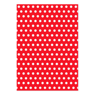 Red and White Polka Dot Pattern. Spotty. Large Business Card