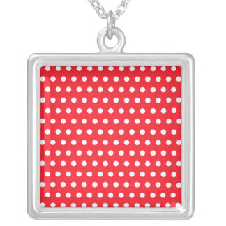 Red and White Polka Dot Pattern Spotty Pendant