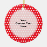 Red and White Polka Dot Pattern. Spotty. Christmas Ornament