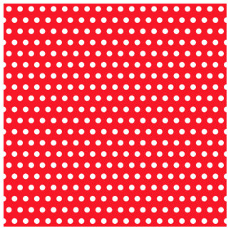 Red and White Polka Dot Pattern Spotty Photo Cut Out