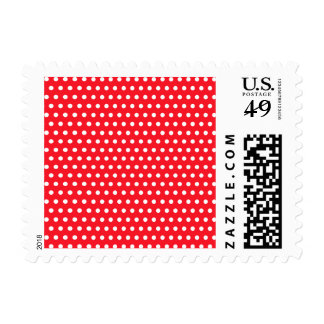 Red and White Polka Dot Pattern. Spotty. Stamp