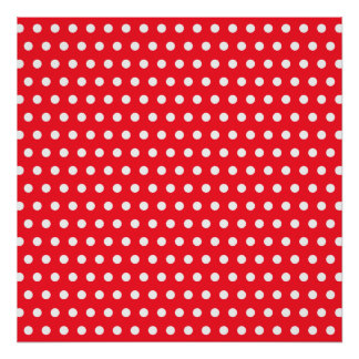 Red and White Polka Dot Pattern. Spotty. Print