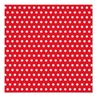 Red and White Polka Dot Pattern. Spotty. Posters
