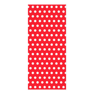 Red and White Polka Dot Pattern. Spotty. Rack Card