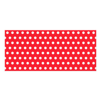 Red and White Polka Dot Pattern. Spotty. Rack Card Template