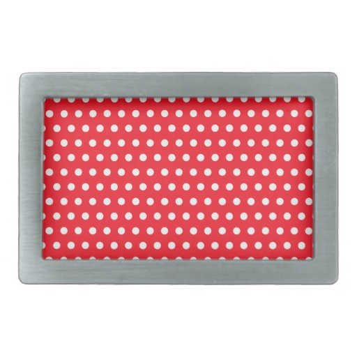 Red and white polka dot pattern spotty rectangular belt for Red and white polka dot pattern