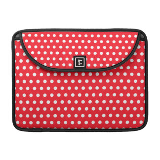 Red and White Polka Dot Pattern. Spotty. Sleeve For MacBook Pro