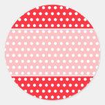 Red and White Polka Dot Pattern. Spotty. Sticker